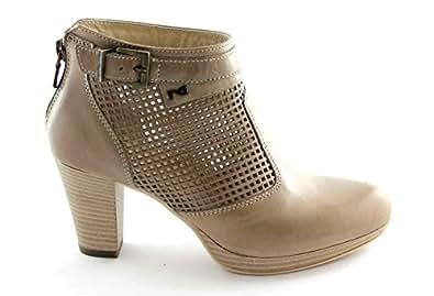BLACK JARDINS 15020 chaussures taupe femme trous bottines à talons 40
