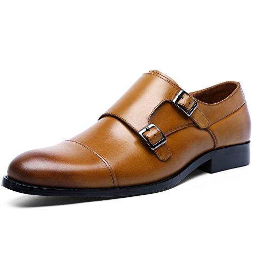 Desai scarpe mocassini elegante monkstrap uomo