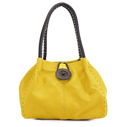 HB Style, Borsa a spalla donna Yellow