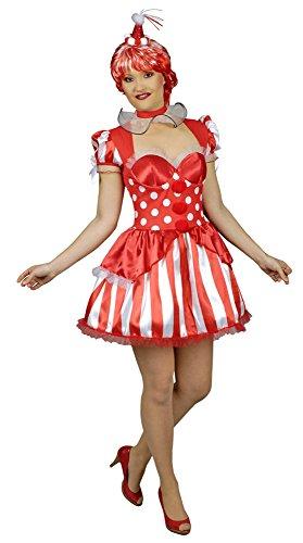 Kostüme Halskrause (KOSTÜM CLOWNI IN RED KLEID + HALSKRAUSE,)