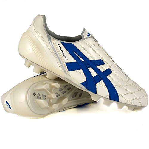 Asics Tigreor It, Scarpe per Allenamento Calcio Uomo Multicolore (Cultura Gold/ Italian Blue)