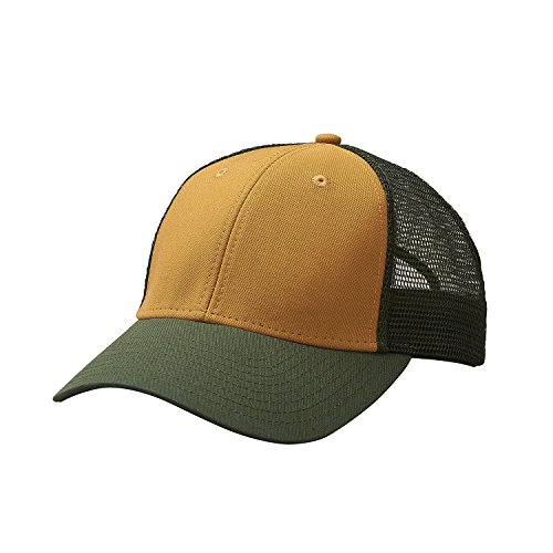 cdc21588e57a0 Ouray Sportswear Industrial Canvas Mesh Cap Hut, Whiskey/Cypress/Cypress,  Einstellbar