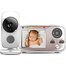 """Motorola MBP667 Connect - Vigilabebés Vídeo Wi-Fi con Pantalla LCD a Color de 2.8"""", Modo Eco, Alertas para Movimiento, Sonido y Temperatura Ambiente, Blanco"""