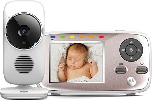 Motorola Baby MBP667 Connect - Babyphone 'dual mode' Wi-Fi avec un écran couleur de 2.8', vision nocturne infrarouge et communication bidirectionnelle, couleur blanc
