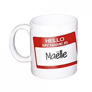 "Maëlle Mug avec nom / Tasse ""Hello my name is"""