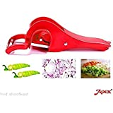 Fashionbonanzamart Famous Apex 2 In 1 Veg Cutter With Peeler Sharp Stainless Steel Blade Vegetable Cutter With Locking System