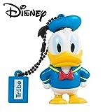 Tribe Disney Donald Duck - Memoria USB 2.0 de 8 GB Pendrive Flash Drive de Goma con Llavero