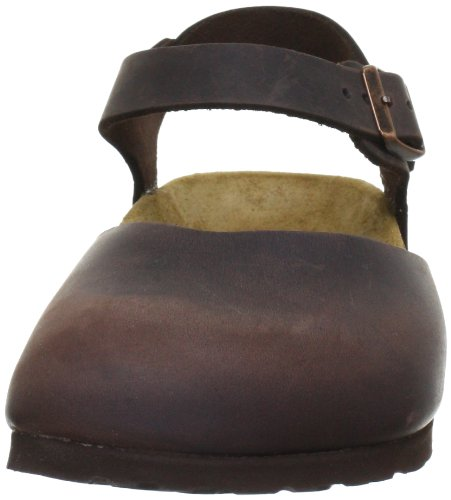Birkenstock messina 004063, Sabot donna marrone (Frappe/Antique)
