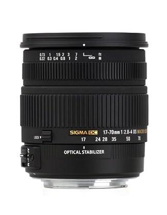 Sigma 17-70/2.8-4 DC OS HSM - Objetivo para Nikon (distancia focal 17-70mm, apertura f/2.8-4, estabilizador óptico, macro, diámetro: 72mm) color negro