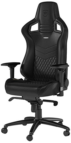 Super Noblechairs Epic Real Leather Gaming Chair Black With Genuine Real Leather 2 Year Warranty Up To 180Kg Users Perfect For An Executive Office Ibusinesslaw Wood Chair Design Ideas Ibusinesslaworg