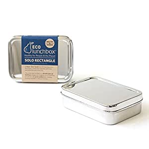 ECOlunchbox Solo Rectangle, große, rechteckige Brotdose aus Edelstahl   Lunchbox   Bento Box