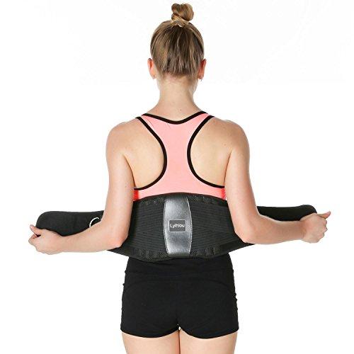 Lyihlou Rückenbandage Rückenstützgürtel| Sport Fitness Rückengurt- Atmungsaktiv L