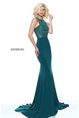 sherri-hill-emerald-green-50806-racer-back-sparkly-bodice-dress-uk-12-us-8