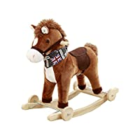 ZCRFY Rockers Ride-ons Baby Wooden Rocking Horse For 12-60 Months Boys And Girls Plush Toys Children