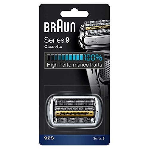 Braun Pièce De Rechange 92S Argentée Pour Rasoir Électrique - Compatible Avec Les Rasoirs Series9