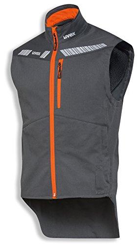 Baumwoll-nylon-weste (uvex Safety metal 8942 Leichte Arbeitsweste, 88% Baumwolle, Sicherheitsweste für Herren und Damen, auch als Freizeitweste verwendbar, mit Reflektoren, Blau-Gelb, Größe XXL)