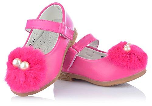 Velcro Bobble Sapatos Crianças Doces Bailarinas Gr E Rosa Meninas 20 Com 25 C8Fxwxaq
