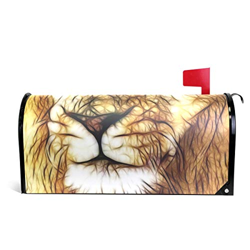 Alaza Lion Face magnetisch Mailbox Cover Standard size-18 x 52,8 cm 25.5x20.8 inch Oversized Multi