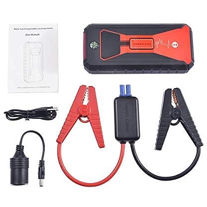 Arrancador de Coches,Careslong 12000mA Arrancador Batería Coche (para 7.5L de Gasolina o 6.0L de Diesel) con IP68 Impermeable, Jump Starter con Carga Rápida QC3.0