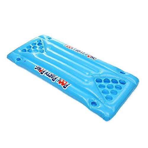 24 Becherhalter Aufblasbarer Bier-Pong-Tisch Pool Schwimmen Sommer-Wasser-Party-Spaß Luftmatratze Eiskübel Cooler -