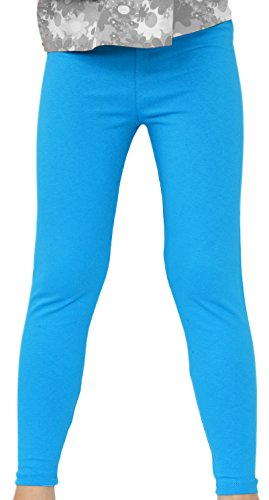 Kinder / Mädchen Thermo Winter Leggings aus Baumwolle AME (98, Blau)