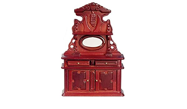 Puppenhaus Mahagoni Queen Ann Nachttisch Tisch Miniatur 1:12 Schlafzimmer Möbel