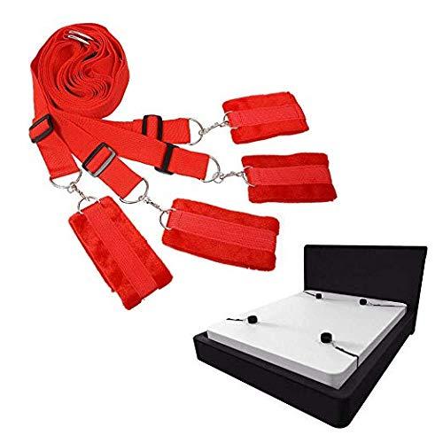 Bettgurt Schlafgarnitur - geeignet für alle Matratzengrößen (rot)