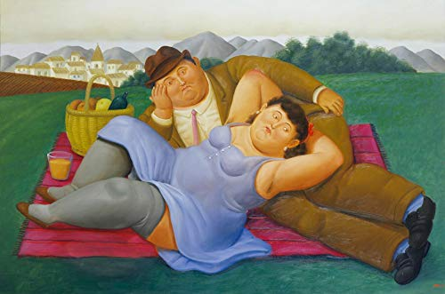 Get Custom Art Fernando Botero Picknick 16x24 inch