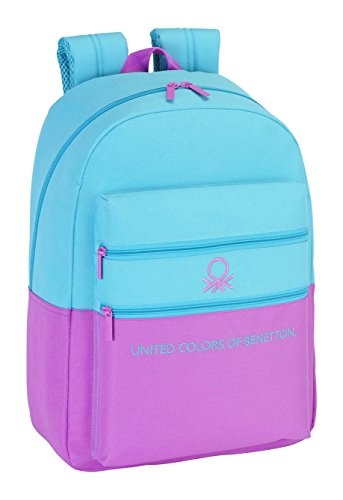Safta 077016 Benetton Basic Mochila Tipo Casual, Color Azul Claro
