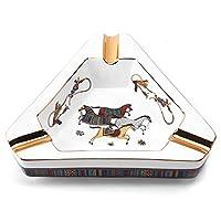 Ceramic Ashtray high-Grade Cigar Fittings Creative European-Style Painted Triangular Desktop Ashtray Smokers use Ashtray Shelves for Home Office Decoration Desktop Smoking Ashtray