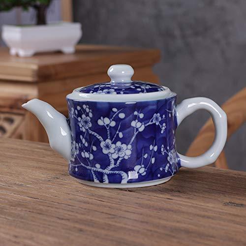 XLCLSA asda Théière en Porcelaine Bleue et Blanche théière à la Main Un Pot rétro Ensemble de thé Zen Ensemble de thé Kung Fu Prune de Glace Photo 2