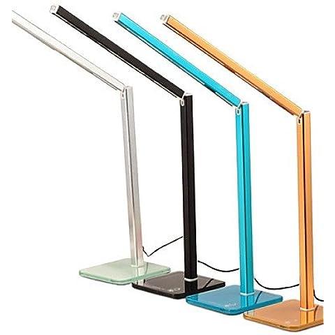 Generico moderne lampade Creative pieghevole pieghevole USB multicolore Touch Control 800Lux Lampada da scrivania a LED lampada da tavolo , bianco-oro #637