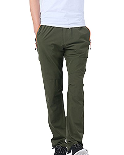 Hombres Pantalones De Montaña Al Aire Libre Ligero Transpirable Deportivos De Secado Rápido Pantalones Verde Del Ejército 3XL