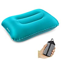 DreamVanguard Ultralight Inflatable Camping Travel Pillow | Lightweight Compact Inflating Backpacking Pillow | Blow Up Ergonomic Portable Compressible For Neck & Lumbar Support | Car Airplane Beach 4