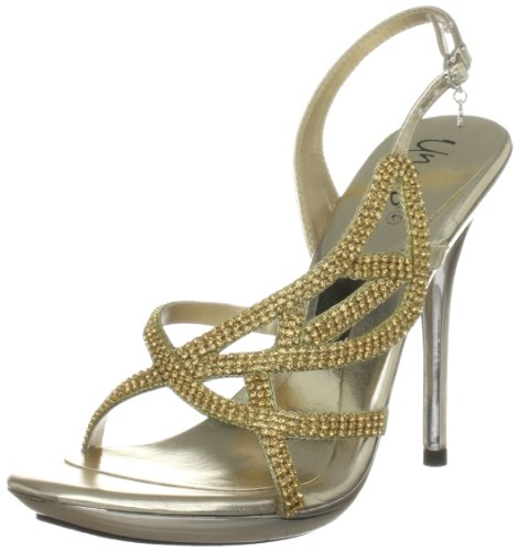 Unze Evening Sandals, Sandales femme Or (L18846W)