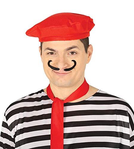 FIESTAS GUIRCA Sombrero de Boina roja para el Pintor mimo Bohemio de la Mascarada