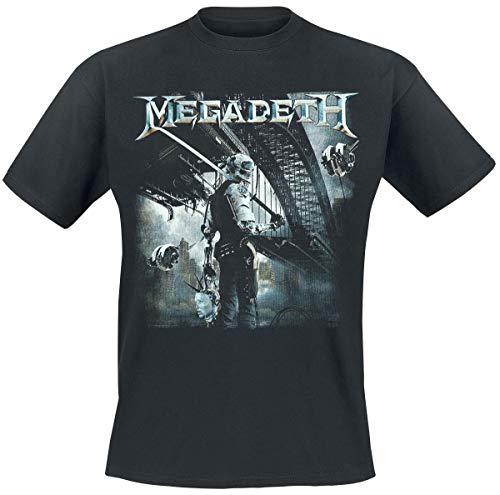Megadeth Dystopia 2016 Camiseta Negro S