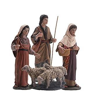 Figura Belen J.L.Mayo Serie 11 cms. Grupo pastores y rebaño – BEL919