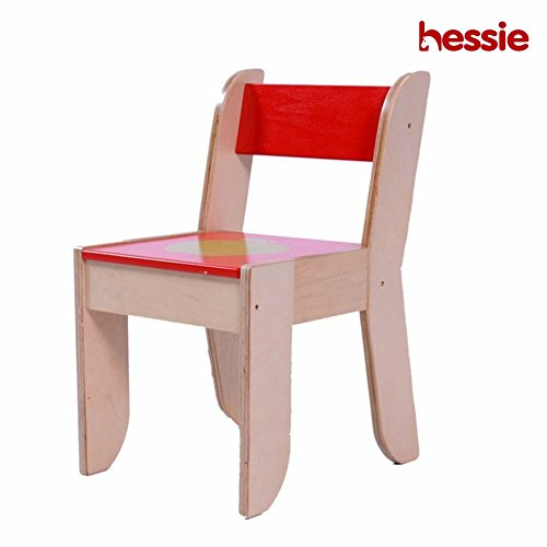 Hessie Little Toddler Kids Activity Play Chair, Wooden Playroom/Bedroom Preschool Furniture - Rouge Chaise