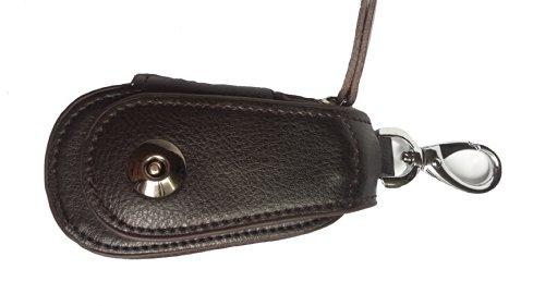 Hohe Qualität Herren / damen Leder Schlüsselkasten Key tasche Wallet schwarz, braun,rot (braun) (Herren-schlüsselkasten)