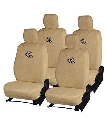 GS- Premium Quality Beige Towel Car Seat Cover for KUV-100