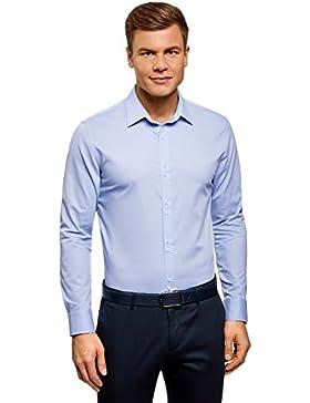 oodji Ultra Uomo Camicia Basic in Tessuto Strutturato
