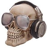 bick.shop Totenkopf Skull Totenschädel Coole Deko & Spardose Gothic schädel mit Kopfhörer