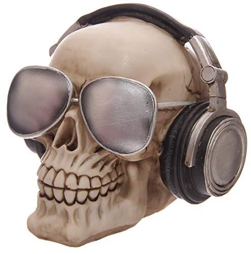 0347cd4072dac5 bick.shop Totenkopf Skull Totenschädel Coole Deko & Spardose Gothic schädel  mit Kopfhörer