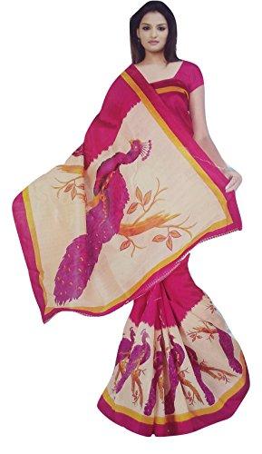 Varshas Art Silk Saree (Assaree6_Multicolor)