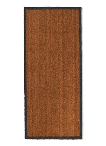 Garden Trading Double Doormat with Charcoal Border-Coir, Large