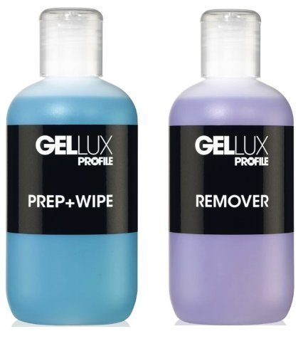 Salon System Gellux Profile Ultra Violet Gel Systems Prep Plus Wipe and Remover Acetone 250ml