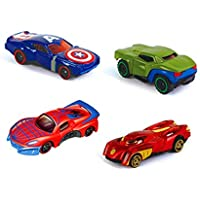 METRO TOY'S & GIFT Set of 4 Alloy Diecast Car Models Collection of Toy Avengers Cars for Children