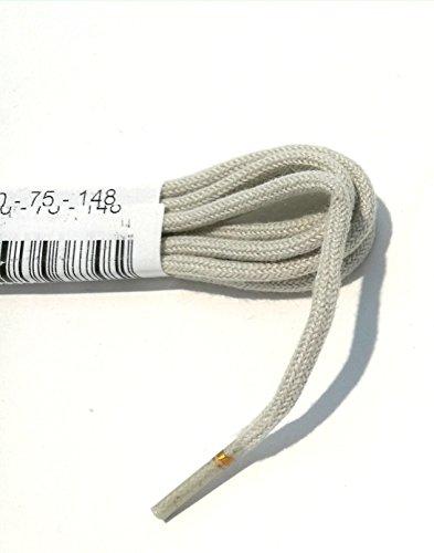 1 Par Ringelspitz Cordón beige - rendondo - fino - ? 2,5 mm - beige, 90 cm
