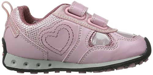 Geox Jr New Jocker Girl, Baskets mode fille Rose (Pink)